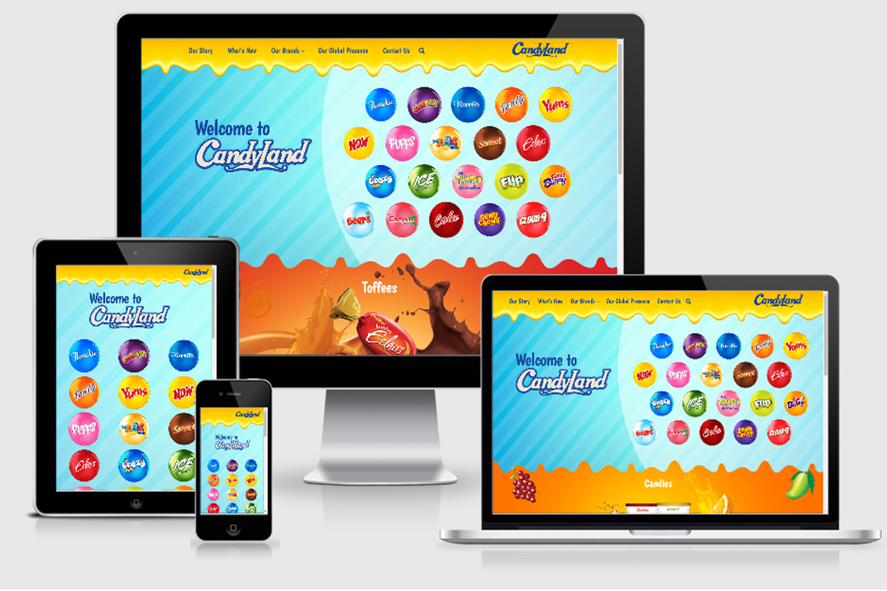 Candyland – Website Development