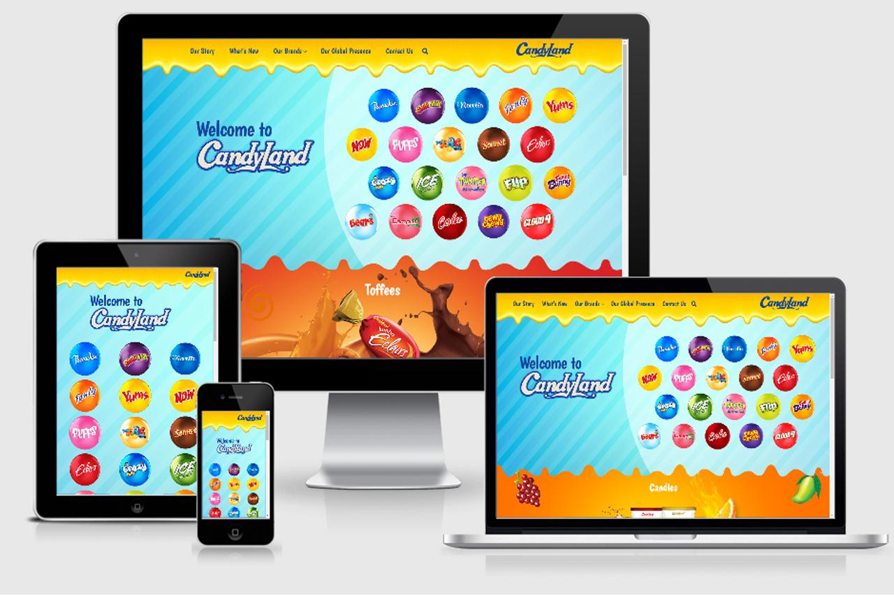 Candyland – Website Development