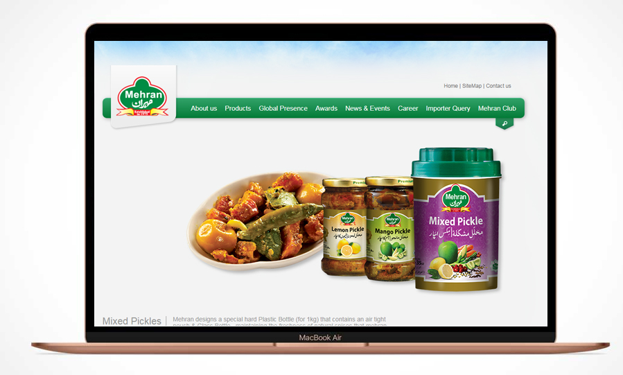 Mehran Foods – Website Maintenance