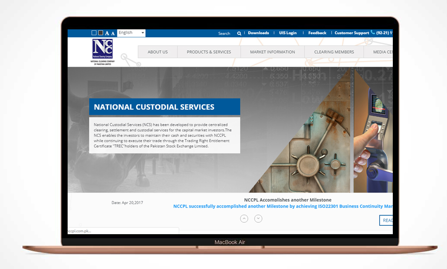 NCCPL – Website Maintenance