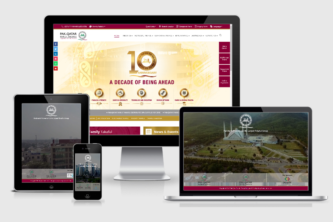 Pak Qatar Takaful – Website Development