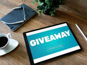 Social media giveaway